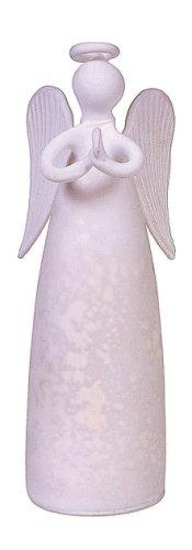 "Creative Co-op 4.5"" Glass Angel Figurine, Choice of 2 Colors"