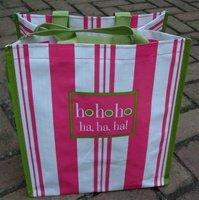 FINE WHINES Ho Ho Ho Recycled Shopping Bag