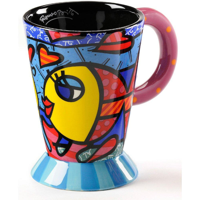 "Romero Britto ""Deeply in Love"" Fish Mug by Giftcraft"