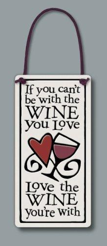 Spooner Creek Wine Tag with Quote, Love The Wine - Spooner Creek Designs