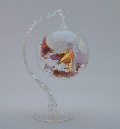 Magic Pink & Gold Czech Glass Ornament
