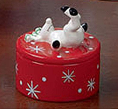 Certified International Silly Reindeer Covered Candy Bowl