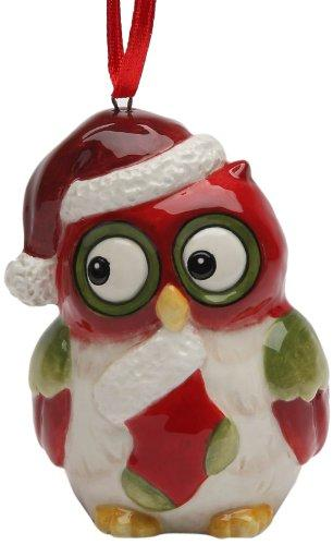Cosmos Gifts Holiday Owl Ornament, 2-3/4-Inch