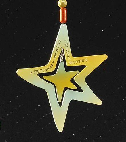 Metal Hanging Adornment or Ornament -A True Friend Star by Giftcraft - Gift Craft