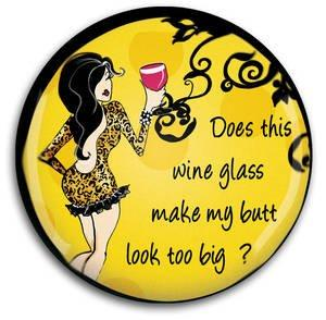 Wine Glass Magnet by Sunset Vista