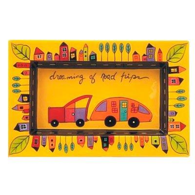 Dreaming of Road Trips Yellow Rectangular Plate