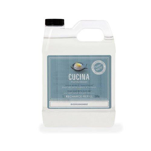 Cucina Sea Salt and Amalfi Lemon Hand Soap Refill 33.8 Fl. Oz