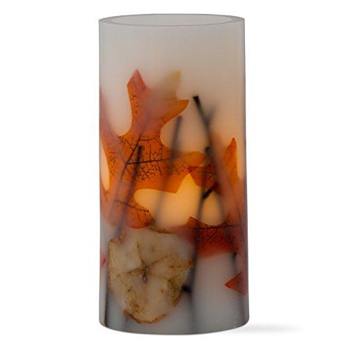 "Tag Flameless LED Apple Twigs Wax Pillar 6"" Candle"