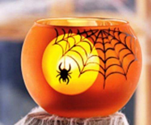 TAG Spiderweb Glass Tea Light Holder - TAG