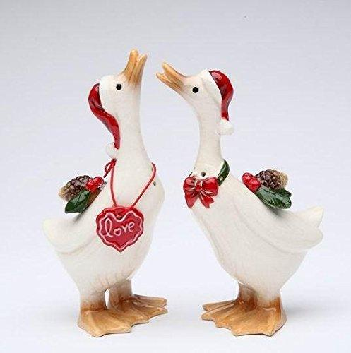Cosmos Gifts Holiday Snow Geese Salt and Pepper Shakers