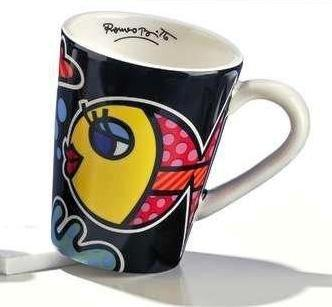 Romero Britto Fish Mug by Giftcraft