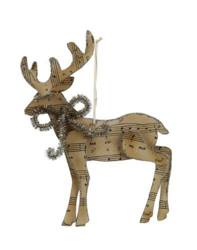 Creative Co-Op Musical Deer Ornament