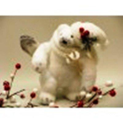 White Polar Bear Figurine by AA Floral