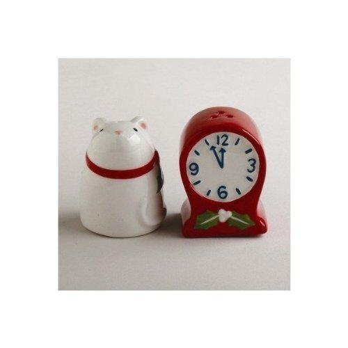 TAG Mouse and Clock Salt & Pepper Shaker Set