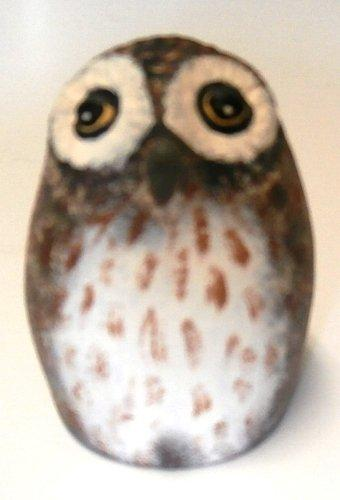 Farm Fresh Eggs Handmade Collectible Owl Figurine