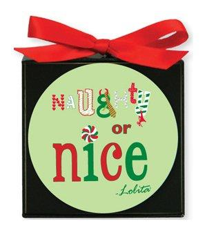 CR Gibson Lolita Gift Boxed Paper Coasters, Naughty or Nice, Set of 12