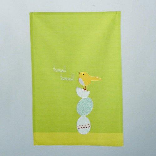 TAG Tweet Tweet Vintage Dishtowel, Green