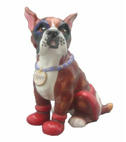 WhimsiClay Champ Boxer Dog