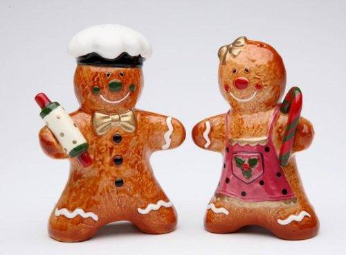 Cosmos Gifts Gingerbread Couple Salt and Pepper Set,  3-3/8-Inch
