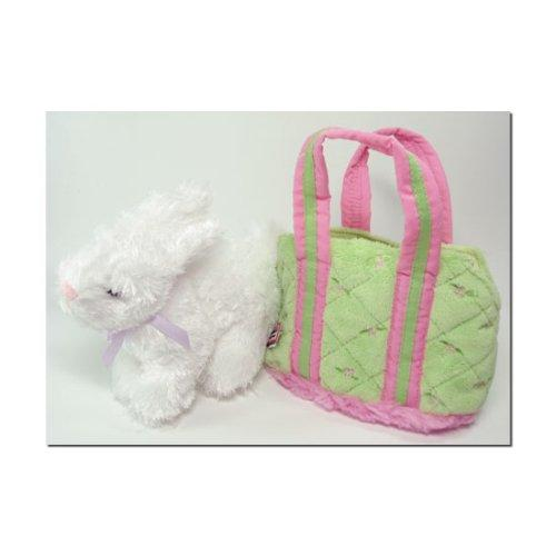 Lime Tote with White Bunny by Douglas Company
