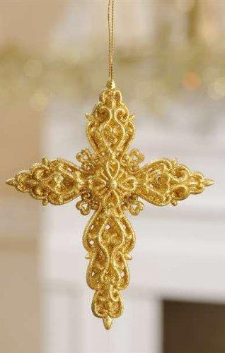 Giftcraft Glittered Cross Ornament, Choice of Styles