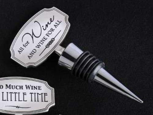 Giftcraft Plaque Wine Bottle Stopper - Choice of Sayings