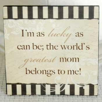 Greatest Mom Wood Refrigerator Magnet from Adams & Co.