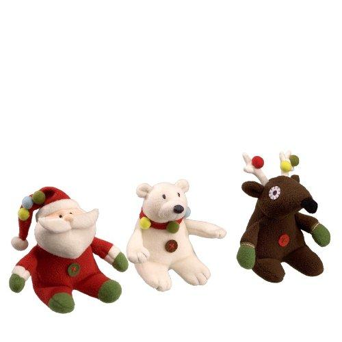Been Good Holiday Sound Toys - 3 pk (1 Santa, 1 Bear, 1 Reindeer)