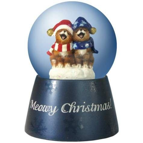Westland Giftware Holly Jollies Meowy Christmas Water Globe