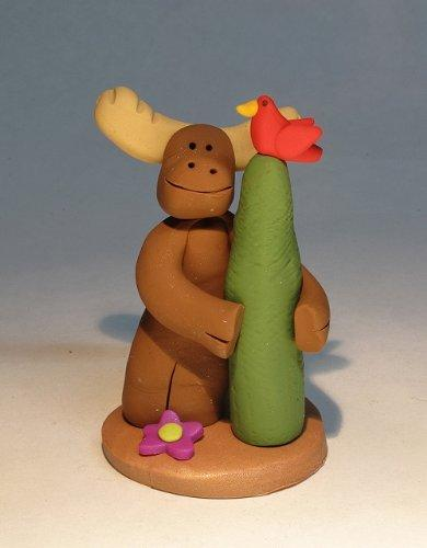 Tree Hugger Moose Figurine By GP Originals, Made in the USA