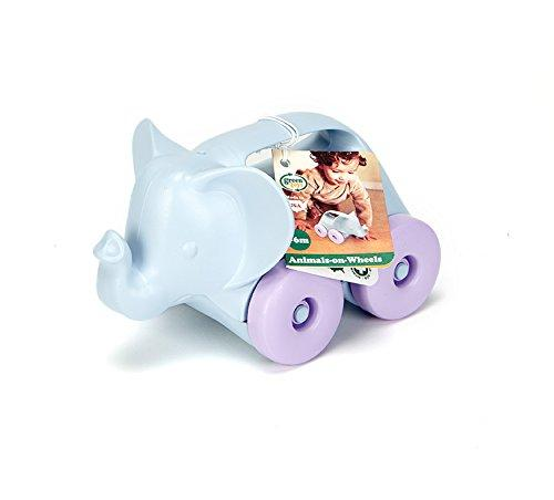 Green Toys Elephant-on-Wheels, Grey/Purple