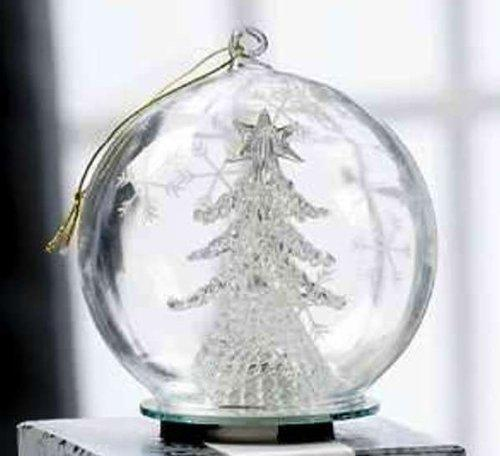 Giftcraft Glass Ball Ornament Lights Up, Choice of Styles