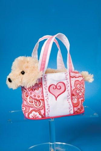 "Pink Heart Tote with Terrier 7"" by Douglas Cuddle Toys"