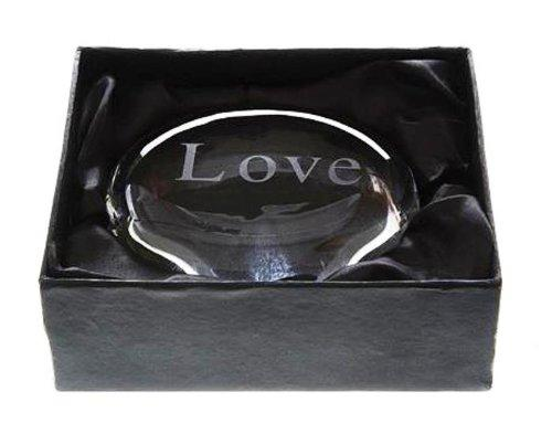 Creative Co-op Etched Glass Paperweight, Choice of Words