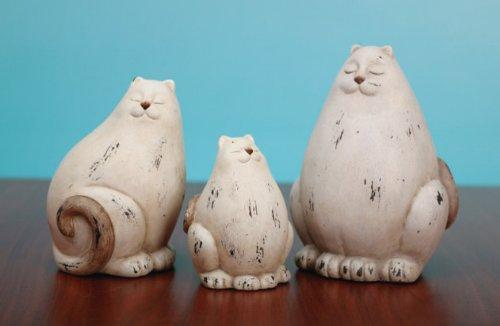 Terracotta Cat Family, Set of 3 by Transpac Imports