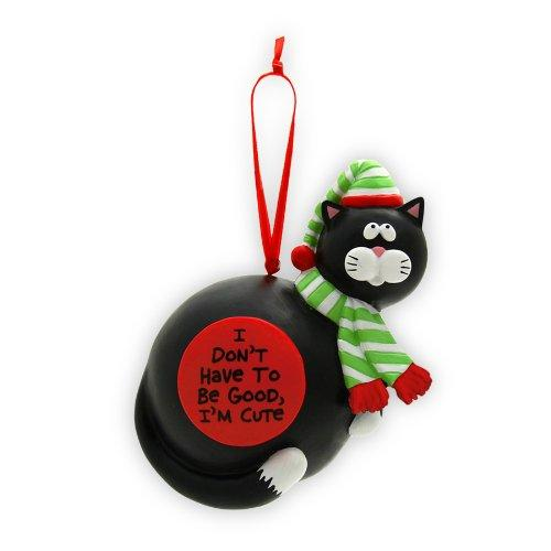 Enesco Our Name is Mud By Lorrie Veasey I'M Cute Cat Hanging Ornament, 4-3/4-Inch - Enesco