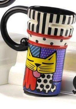 Romero Britto Travel Mug, Choice of Style