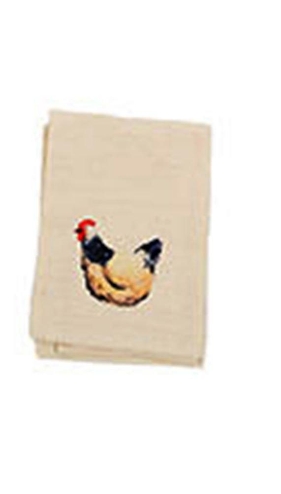 DEI Flour Sack Kitchen Towel With Farm Animal Icon, Choice of Style