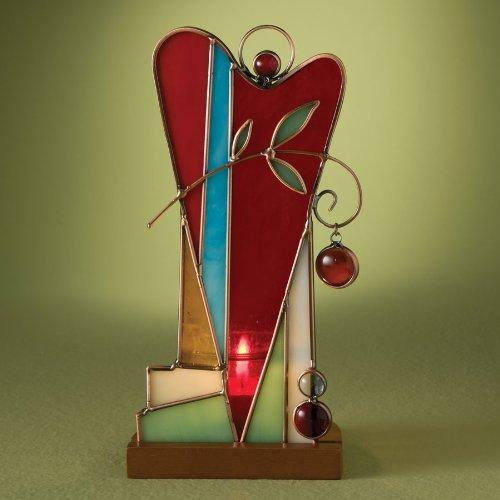 "Tall Heart ""Stained Glass Heart"" Voltive Holder"