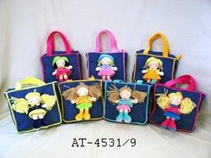 Girl cloth purses by Angel Toy Corp