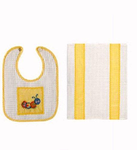 C&F Caterpillar Bib & Burp Cloth Set