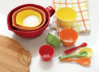 TAG Citrus Kitchen Mixing Bowls, Set of 3
