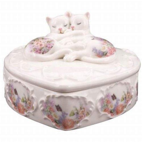 Kitty Kats Cats Sleeping Trinket Box