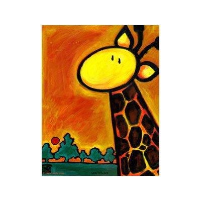 Giraffescape Print with White Mat Size: Small