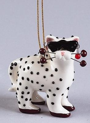 Whimsiclay Mini Cat Ornament, Shanice
