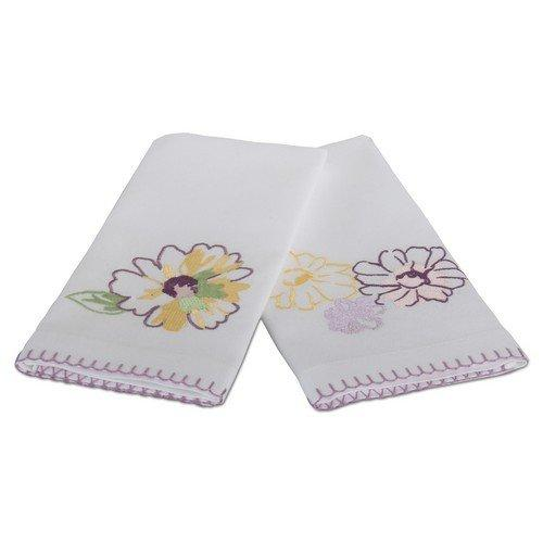 TAG Blooms Embossed Guest Towels, Set of 2