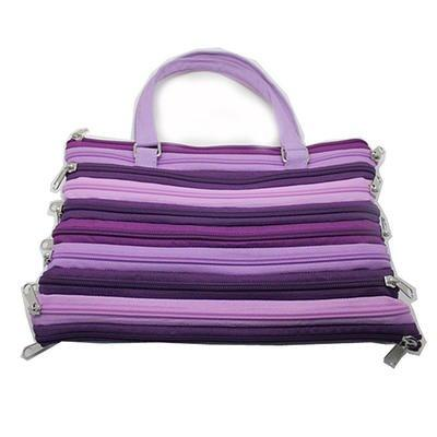 Cosa Nova Zippered Purse or Small Tote, Purple