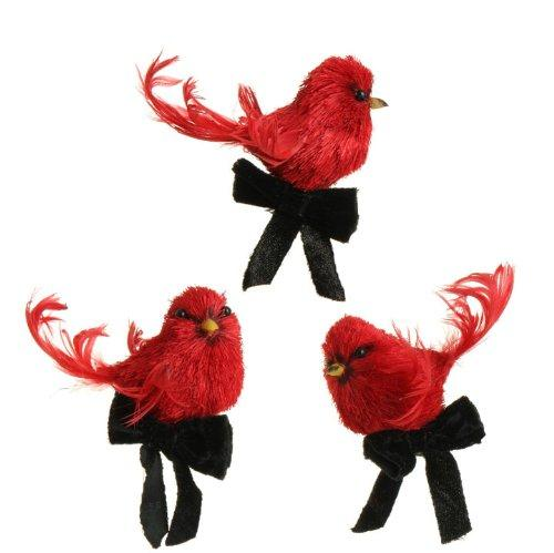 RAZ Imports Cardinal Ornament, Set of 3