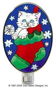 Kitty in Stocking Nightlight by Joan Baker Designs