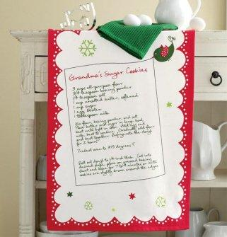 TAG Cookies for Santa Dishtowel (Set of 2) with Cookie Cutter